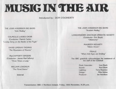 50th Anniversary of BBC NI - 1984