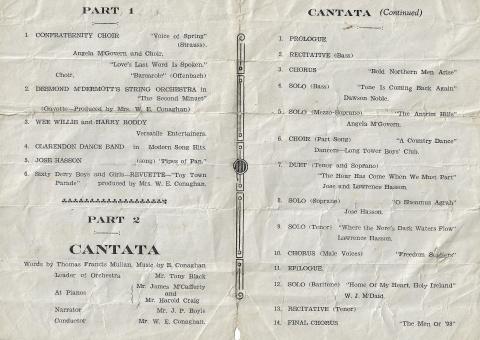 1944 Cantata Program (Guildhall, Derry)