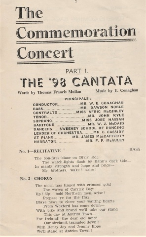 1948 Cantata Program (Guildhall, Derry)