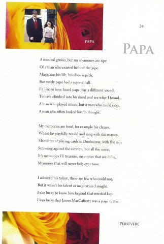 Poem written by Niamh MacCafferty about her grandfather