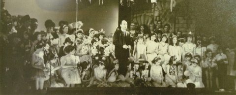Father Daly with Panto Cast
