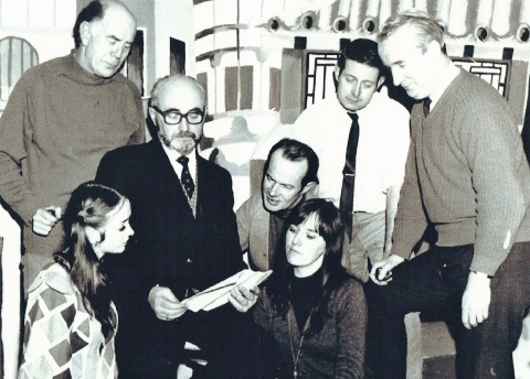 Production team from Aladdin 1971