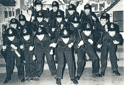 The Keystone Cops from Wizard of Oz 1984