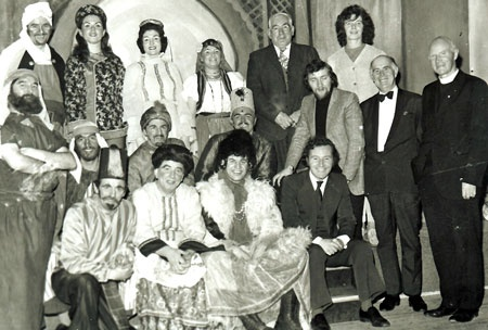1973 Creggan Pantomime Cast with Phil Coulter, James, Fr Rooney, Jim Campbell (Producer)