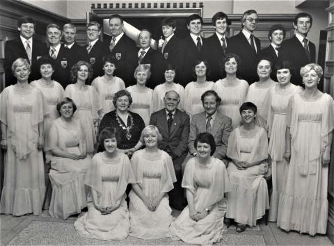 MacCafferty Singers before UTVs 21st Celebration (1980)