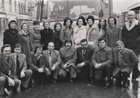 MacCafferty Singers on route to RTE New Year Show 1976
